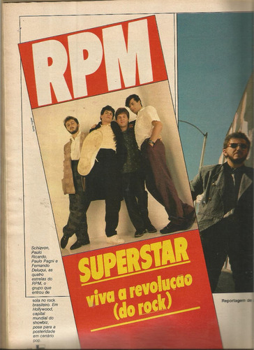 revista manchete 1797/1986 - vanessa - rpm - roberta close