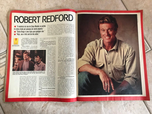 revista manchete 2127 especial daniela perez robert redford