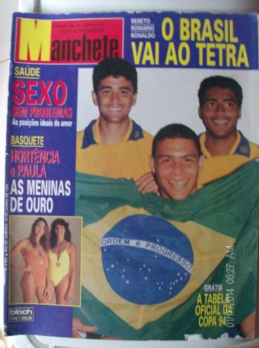revista manchete 2202 bebeto romario ronaldo brasil tetra