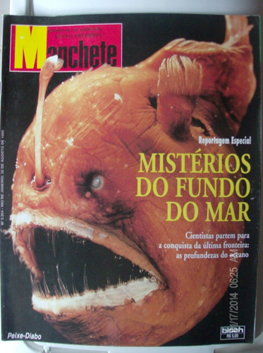 revista manchete 2264 peixe diabo mistérios no fundo do mar
