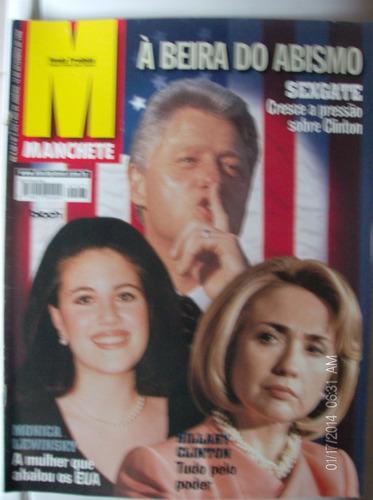 revista manchete 2423 bill clinton hillary clinton monica