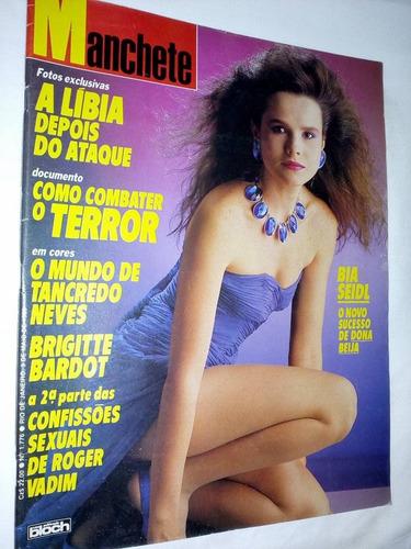 revista manchete - bia seidl - 1986