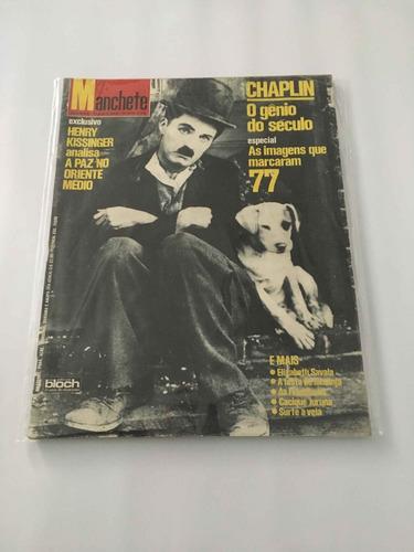 revista manchete - morte chaplin - 7 janeiro 1978 - nº 1342