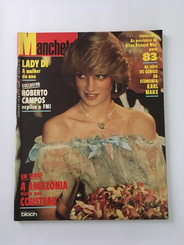 revista manchete nº 1602 - 1 janeiro 1983 lady di karl max