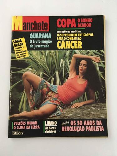 revista manchete sônia braga copa - 17 julho 1982 - nº 1578