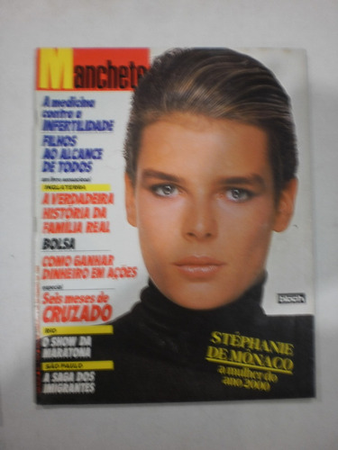 revista manchete - stéphanie de mônaco,família real 1986