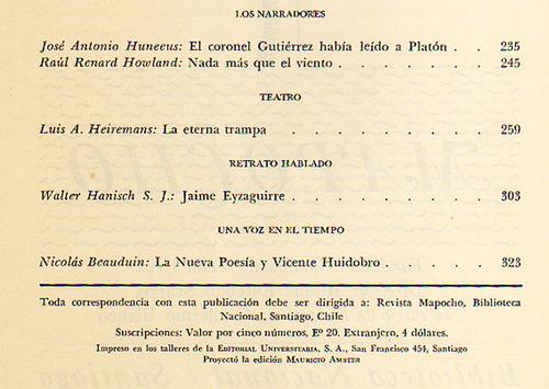 revista mapocho nro 23, de la biblioteca nacional de chile