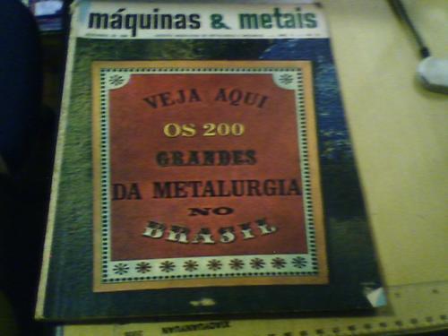 revista máquinas & metais n°61 1968 os 200 grandes da metalu