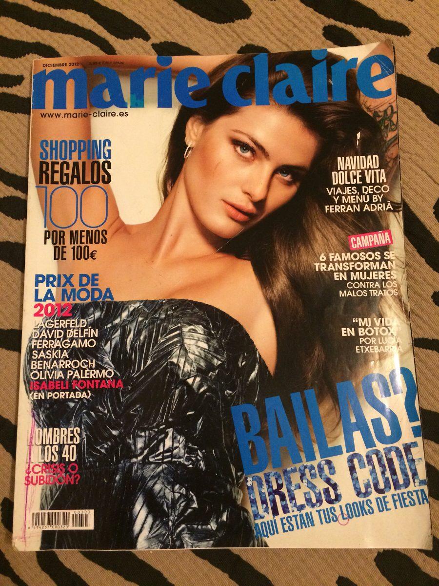 Revista Marie Claire 12 Importada Isabeli Fontana Nua Modelo