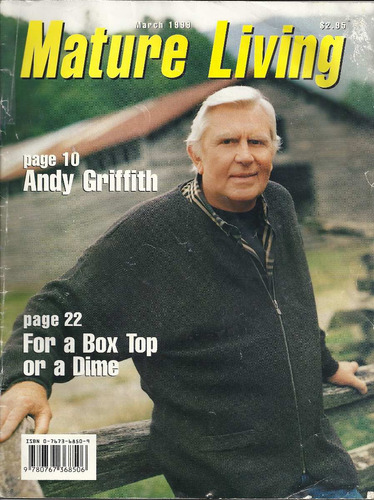 revista mature living: andy griffith !!