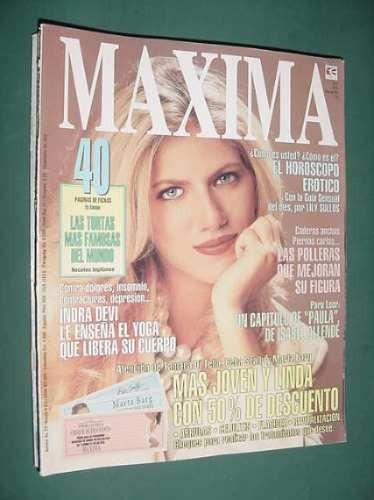 revista maxima 49 -5/95- isabel allende indra devi andino