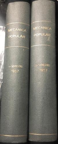 revista mecanica popular año 1957 completo y encuadernado