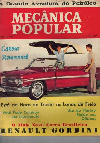 revista mecanica popular -  julho de 1962