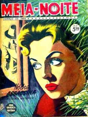revista meia noite nºs 71 -rge-1954-contos de mistério