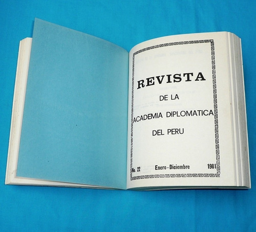 revista memoria academía diplomática del perú 1982 1983
