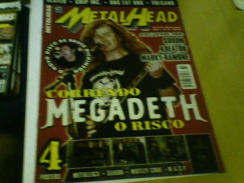 revista metal head n°32 capa megadeth