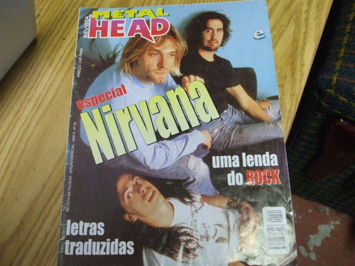 revista metal head numero 22 - especial nirvana