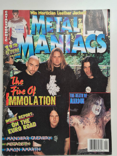 revista metal maniacs - immolation