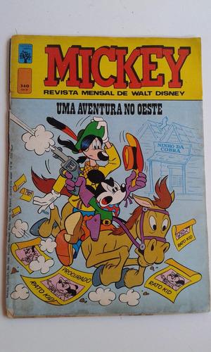 revista mickey nº 340 abril bom estado