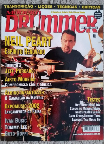 revista modern drummer nº 02 neil peart rush