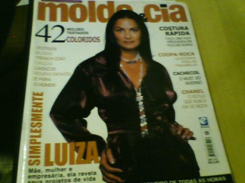 revista molde & cia n°1 luiza brunet com moldes