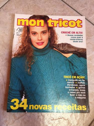Revista Mon Tricot Crochê Tricô 34 Receitas Maxipulls Gorros - R  27 ... ca30d524db6