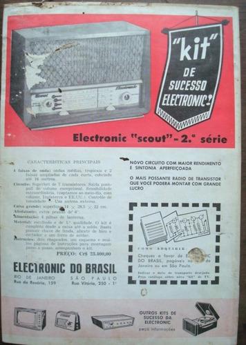 revista monitor de radio e tv. no. 185 agosto de 1963