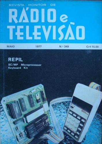 revista monitor de radio e tv. no. 349 maio de 1977
