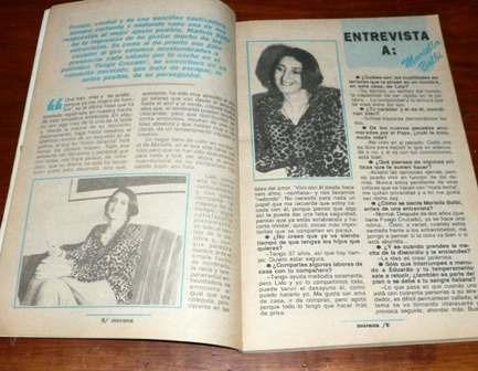 revista morena gente 1992 mariella balbi frutas gimnasia