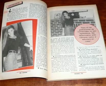 revista morena gente 1993 alessandra chávez infartos parejas