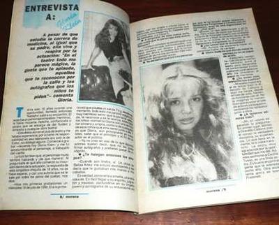revista morena gente 1993 gloria klein embarazo jardinería