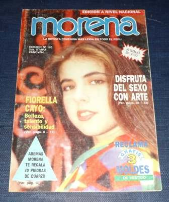 revista morena gente 1994 fiorella cayo menudo migraña toros
