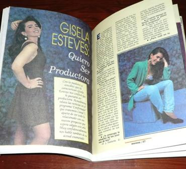 revista morena gente 1994 gisela esteves jardinería canarios