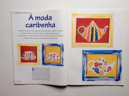 revista mãos de ouro artesanato aquarela em seda e voal nº01