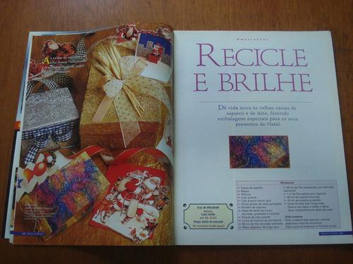 revista mãos de ouro artesanato n°20 recicle caixas diversas