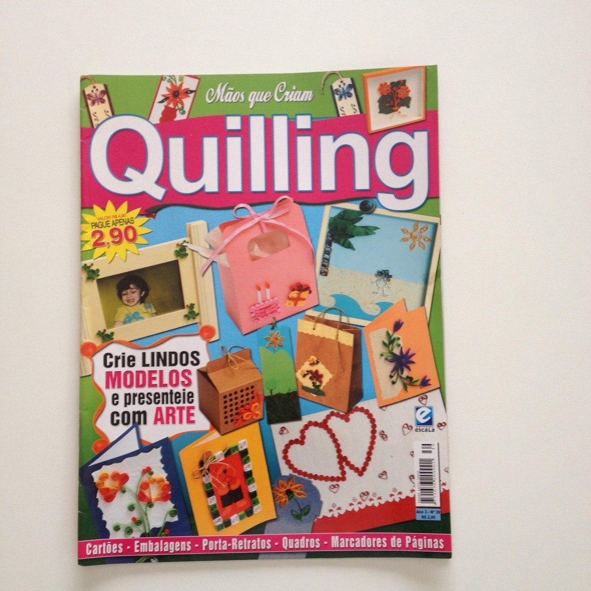 Revista Maos Que Criam Quilling Cartoes Embalagens N 39