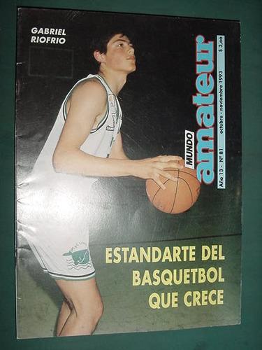 revista mundo amateur 81 basquet gabriel riofrio estandarte