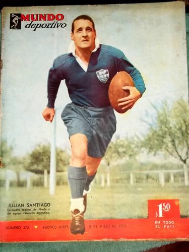revista mundo deportivo.julián santiago.nº 273. 8 julio 1954