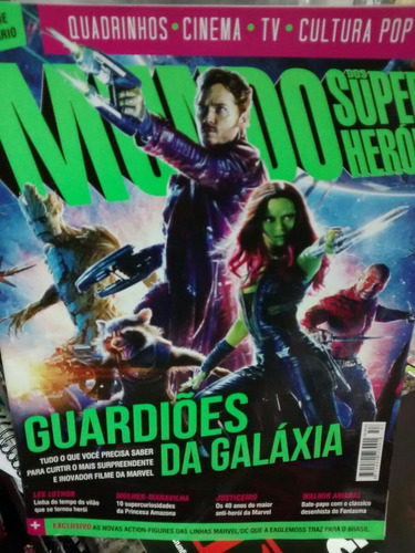 revista mundo dos super heróis - guardiões da galaxia