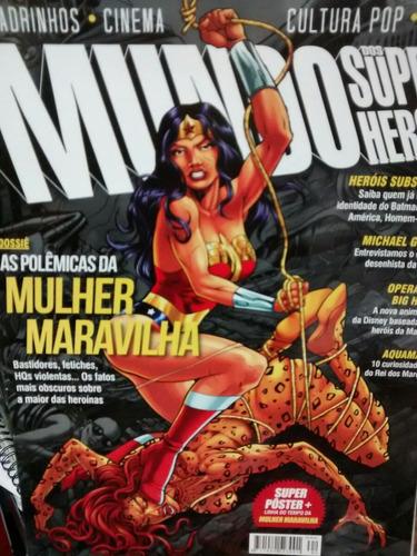 revista mundo dos super heróis - mulher maravilha