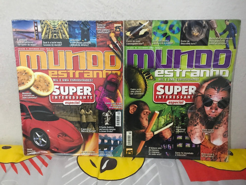 revista mundo estranho nº 04 ao 10 (lote com 07 revistas)