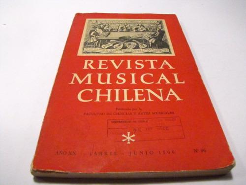revista musical chilena n 96 1966