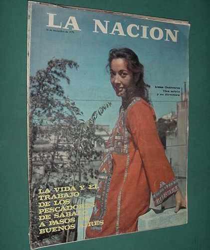revista nacion 16/11/75 irene ontiveros pescadores sabalo