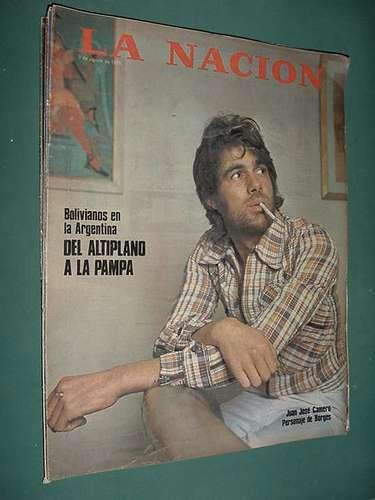 revista nacion 3/8/75 juan jose camero bolivia malcuzynski