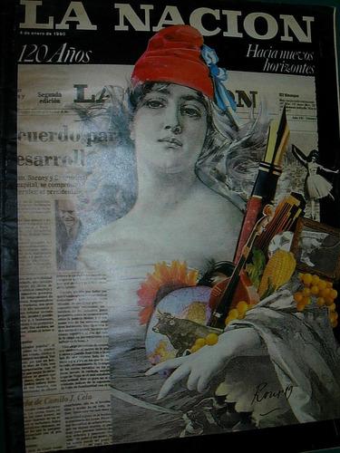 revista nacion 4/1/90 120 años republica argentina