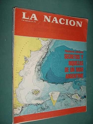 revista nacion 5/9/76 turf marina lezcano mar argentino moda