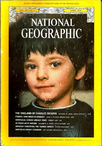 revista national geographic -abril/1974 -vol.145  nº4f/grati