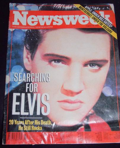 revista newsweek 18 agosto 1997- serching for elvis