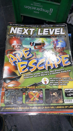 revista next level 6 julio 1999 ape escape resident evil 3