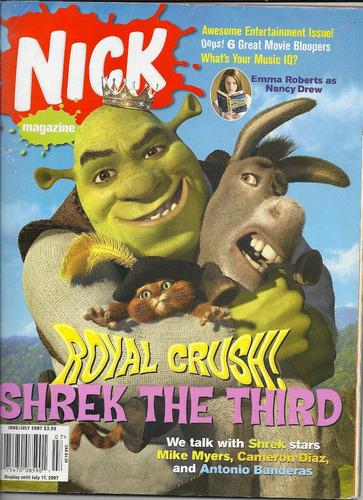 revista nick: shrek / masi oka / emma roberts !!